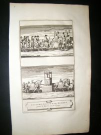 Picart C1730 Folio Antique Print. Religious Catholic Transportation of Pope